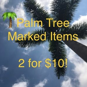 SALE‼️Bundle 2 palm tree marked items for $10
